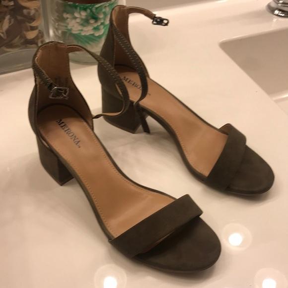 1846c2f1abdc Olive green block heel sandals